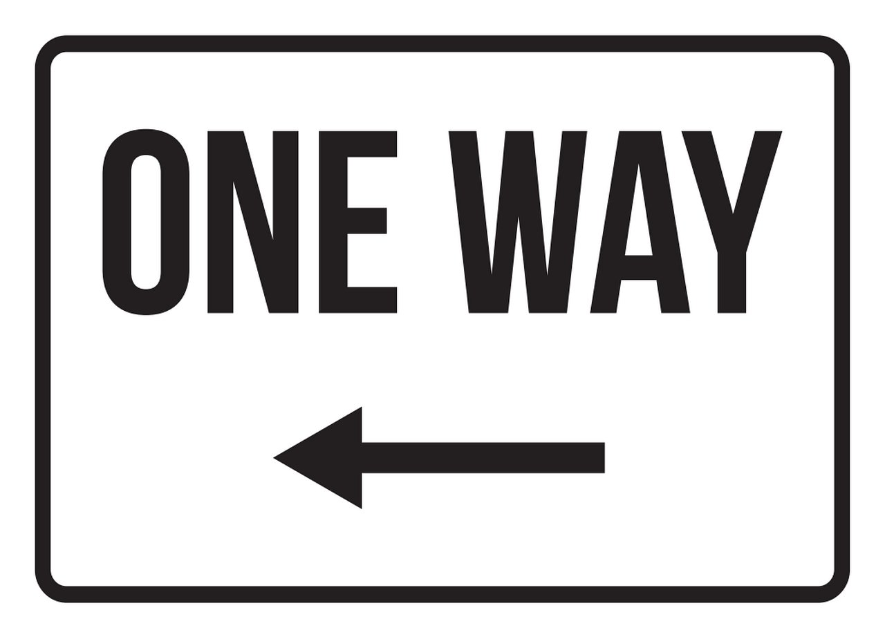 iCandy Products Inc One Way Left Arrow No Parking Business Safety Traffic Signs Black - 7.5x10.5 - Metal