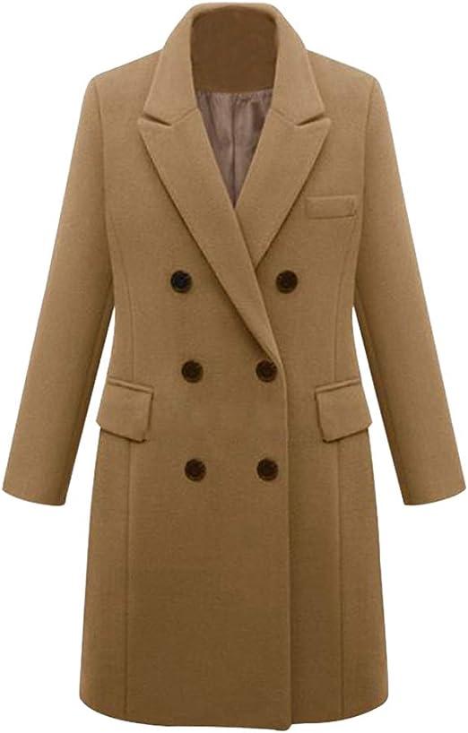 Women Overcoat Trench Lapel Wind Coat Outwear Long Parka Autumn Winter Jacket