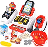Victostar Toy Cash Register for Kids with Checkout