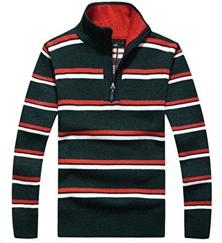 M Half Zip amp;S Print Strip Men's 2 Winter Sweater amp;W Pullover r4rUWnPB