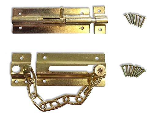 2 Piece Brass Plated Door Locks ()