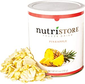 Nutristore Freeze Dried Pineapple | Perfect Healthy Snack | Bulk Fruit Emergency Survival Food Storage | Amazing Taste & Quality | 25 Year Shelf Life
