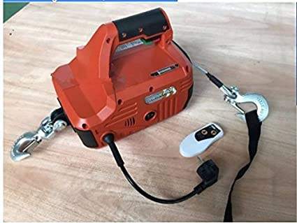 Gowe 992lbs 450kgx4 6m Portable Electric Winch With Wireless Remote Hand Winch Traction Block Electric Steel Wire Rope Hoist Windlass Amazon Com Industrial Scientific