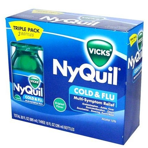 NyQuil Cold & Flu Multi-Symptom Relief 3-10oz. bottles (Original flavor)