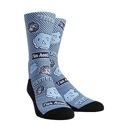 (NCAA Super Premium College Fan Socks (Kids, UNC Tar Heels - Logo Statement))