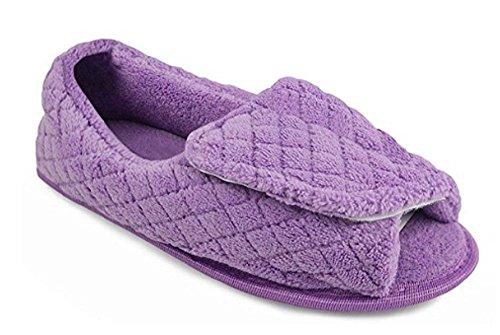 Muk Luks Instelbare Open Teen Slipper Voor Dames (m, Lavendel) Lila