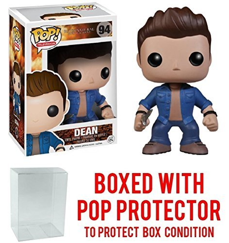 Funko Pop! Supernatural - Dean Winchester Vinyl Figure (Bundled with Pop BOX PROTECTOR CASE) -
