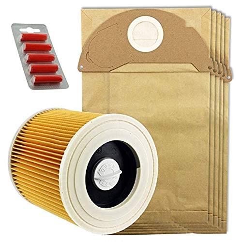 10 x Wet /& Dry IPX4 MV2 Bags /& Filter for Karcher Vacuum Cleaner Fresh