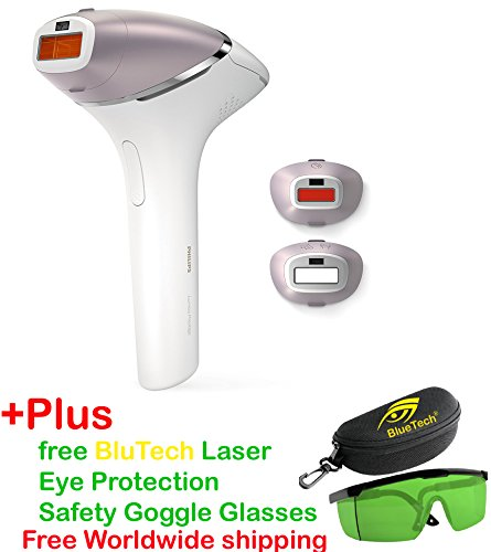 PHILIPS LUMEA New BRI953/00 Prestige IPL Hair Removal Device For Body, Face and Bikini - 2017 version+Pluse Free BlueTech Laser Eye Protection Safety Goggle Glasses - Free Expedited worldwide shipping by Philips