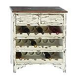 Benzara 35019 Classic Wood Wine Cabinet 32 in. H, 28 in. W
