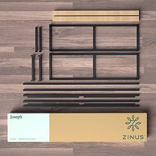 Zinus Joseph 14 Inch Metal Platforma Bed Frame / Mattress Foundation / Wood Slat Support / No Box Spring Needed / Sturdy Steel Structure, King
