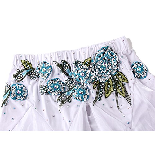 Fée Long Costumes Jupe Swing Soutien Aaa Ventre Satin Danse Moliyanzi Plus Récent Dancing Pink 2 Demi Pcs Manches Belly gorge ST60q