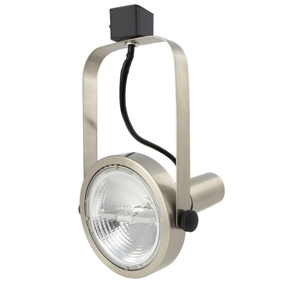 Lithonia Lighting LTH1000 PAR30 BN M24 One-Light Rear Loading Gimbal Commercial Track Head, PAR30-Compatible, Brushed Nickel