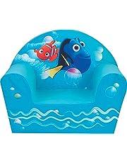 Fun House Dory Clubstoel voor kinderen, schuimstof, polyester, blauw, 52 x 33 x 42 cm
