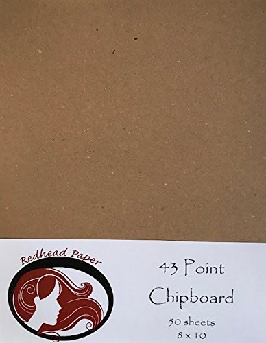 50 Sheets Heavy Weight (43pt) Chipboard 8x10inches RedHead Paper