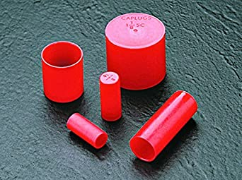 Pack of 12 Caplugs Z15211AK1 Plastic Sleeve Cap for Tube Ends Red SC-1521 PE-LD Cap ID 3.500 Length 1.00