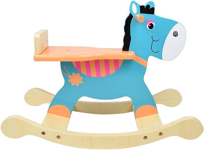 LOMOS Caballo balancín de Madera, diseño Burro, para niños y niñas ...
