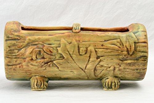 Weller Pottery Planter, 1920-33 Oak Leaf Woodcraft Log Planter