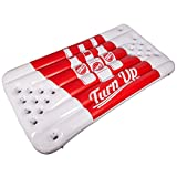 Can't Stop Party Supplies Inflatable Beer Pong Raft Floating Pool Pong Game - Turn Up Design
