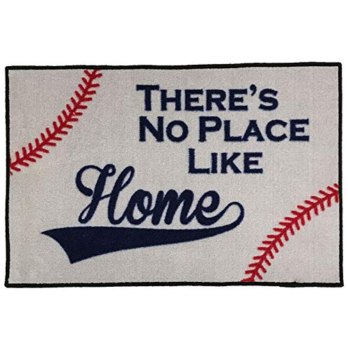 - There's No Place Like Home Baseball Entry Doormat - 2x3