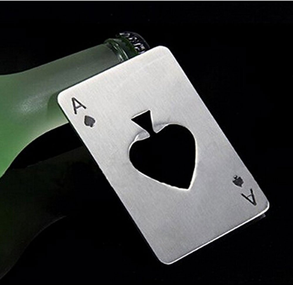 Amazon.com: Leegoal Credit Card Size Casino Bottle Opener: Poker ...