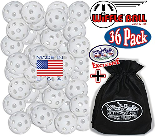 Wiffle Plastic Practice Golf Balls 36 Pack with Exclusive ''Matty's Toy Stop'' Storage Bag by Wiffle (Image #1)