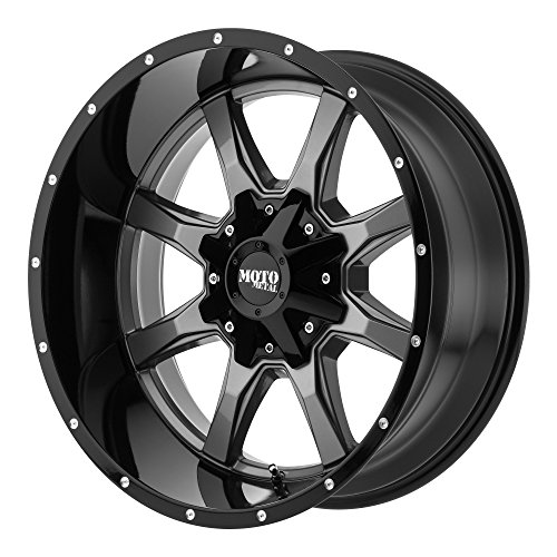 Moto Metal MO970 18×10 Gray Black Wheel / Rim 8×6.5 with a -24mm Offset and a 125.50 Hub Bore. Partnumber MO97081080424N