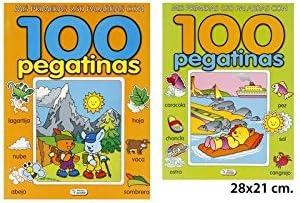 Libro 100 Pegatinas Modelos Surtidos, LIBRO DIVO, 28x21cm