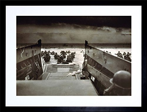 WAR MILITARY HISTORY D DAY LANDING NORMANDY WWII ART FRAMED ART PRINT PICTURE & MOUNT F12X1838