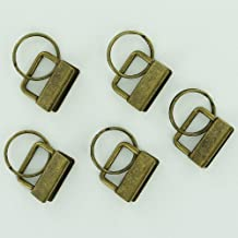 """100 Sets - ANTIQUE BRASS - 1"""" (1 INCH) - Key Fob Hardware/Key Chain/Wristlet Sets with Split Rings/Key Rings by I Like Big Buttons!"""
