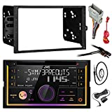JVC KW-R920BTS Double DIN Bluetooth Car Stereo Receiver CD Player Bundle Combo With Metra installation kit for car stereo (Fits Most GM Vehicles) + Wire Harness + Enrock 22