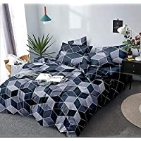 The Choice Home 3 D Glace Cotton BEDSHEET with 1 Double BEDSHEET and 2 Pillow Cover Combo(Multicolour) Set of 3 Pieces