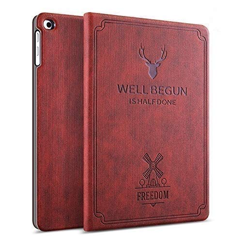 ProElite Smart Deer Flip case Cover for Samsung Galaxy Tab A7 10.4 inch SM-T500/T505/T507 (Wine Red)