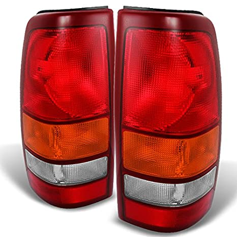 For Silverado Sierra 99-06 Chrome Clear Altezza Tail Lights Lamp Set Replacement