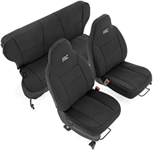 Rough Country Neoprene Seat Covers for 97-01 Jeep Cherokee XJ w/o Detachable Headrests - 91022