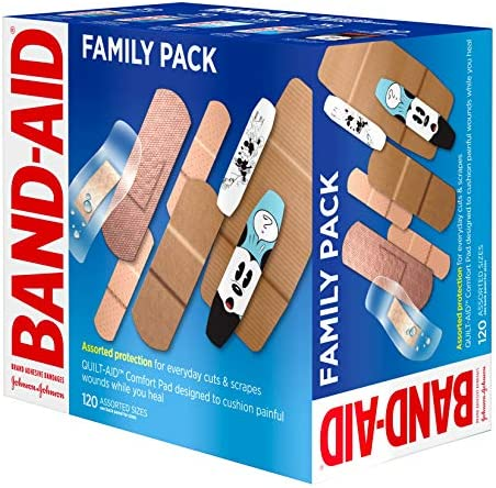 519MlpbGQdL. AC - Band-Aid Brand Adhesive Bandage Family Variety Pack In Assorted Sizes Including Water Block, Sport Strip, Tough Strips, Flexible Fabric And Disney Bandages For First Aid And Wound Care, 120 Ct