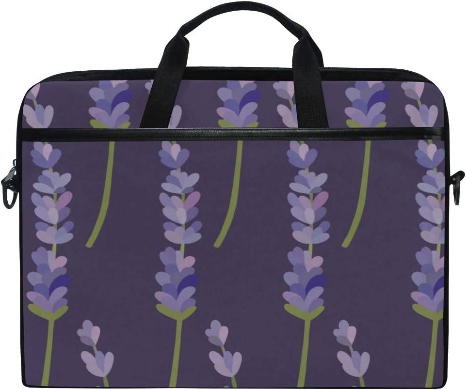 Briefcase Messenger Shoulder Bag for Men Women College Students Business People Office Workers Laptop Bag Lavender Pattern 15-15.4 Inch Laptop Case
