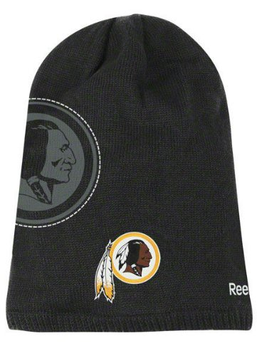 (Washington Redskins Reebok 2010 Player Sideline Cuffless Long Knit Hat)