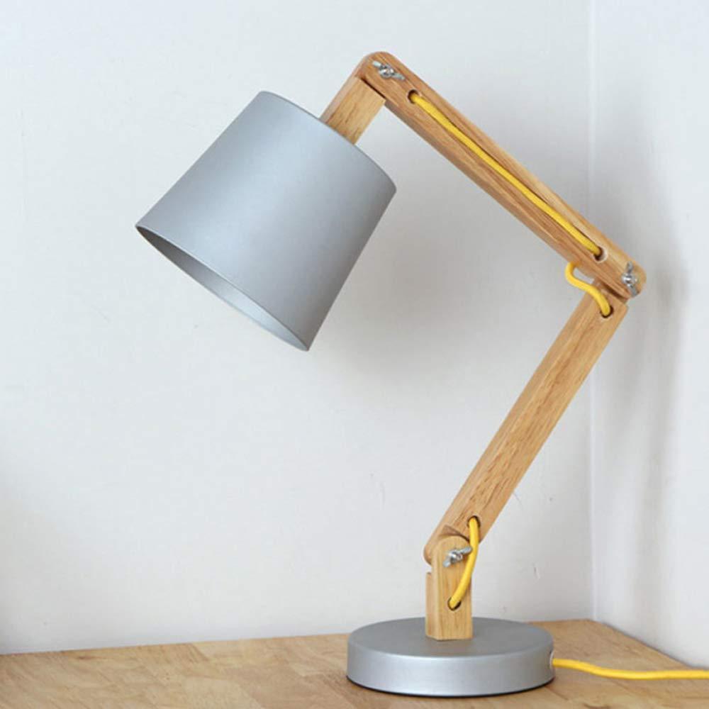 Europäische Stil Lampe Pastoralen Modernen Studie Touch Massivholz Persönlichkeit Eisen Kreative Wohnzimmer Schlafzimmer Nachttischlampe