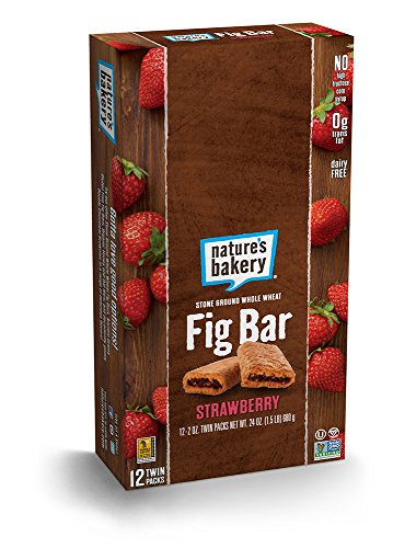 Gluten Free Strawberry (Nature's Bakery Whole Wheat Fig Bar, Strawberry, (Pack of 12))