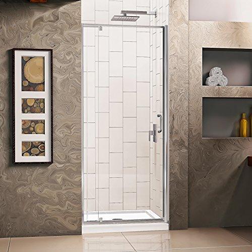 DreamLine Flex 28-32 W x 72 H Inch Semi-Frameless Pivot Shower Door, Chrome by DreamLine