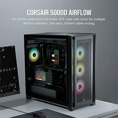 Corsair 5000D AIRFLOW Tempered Glass Mid-Tower ATX PC Case, Black: Buy  Online at Best Price in UAE - Amazon.ae