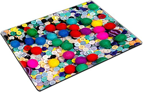 MSD Place Mat Non-Slip Natural Rubber Desk Pads design 29866464 Colorful sewing textile buttons and made of felt ball - Felt Buttons Desk