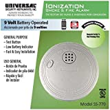 24 Pack Bundle of Universal Security Instruments Compact Size Battery-Operated Ionization Smoke and Fire Alarm (SS-770-24CC)