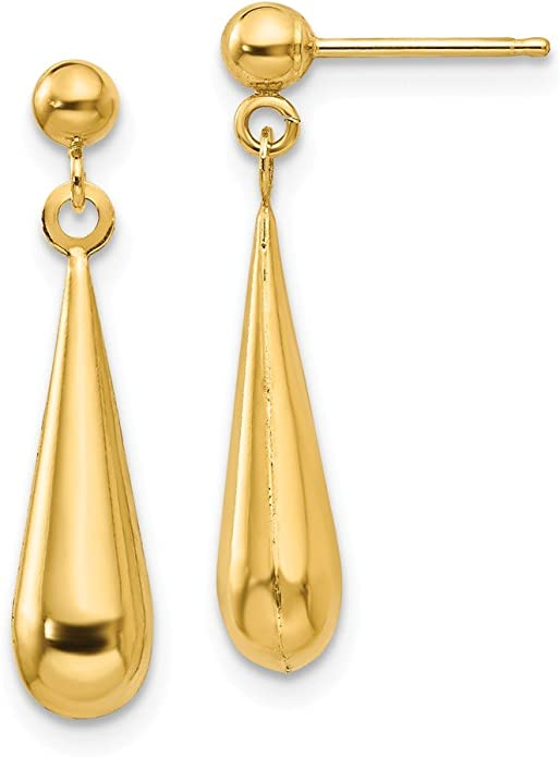 22CT 916 Yellow Gold Kids Stud Tops Dangle Earrings  SE147