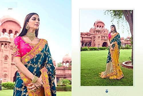PINKKART Designer Dyed Silk Embroidery Work Saree Blouse Wedding Casual Party wear Indian Women Sari Designer Blouse 9717