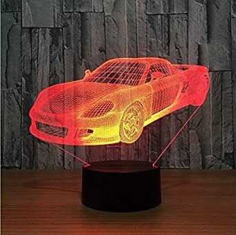 3d 7 Ferrari De Super Car Led Bureau Cool Lampe Nuit Visual N0nPwOX8k