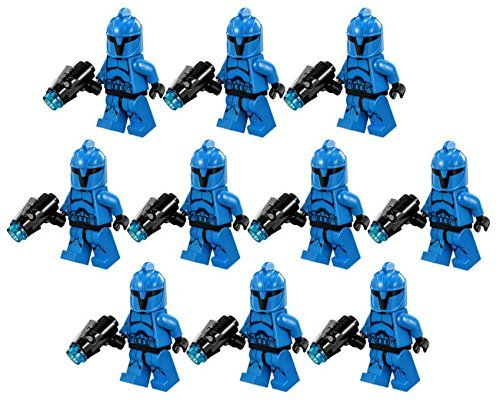 10 New Lego Star Wars Senate Commando Trooper Minifig Lot 75088 Grunt Blue Clone