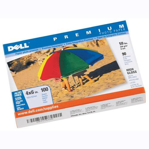 Dell Premium Photo Paper - 4X6 in. - High Gloss - 100 - Sheet Gloss 6 High 100