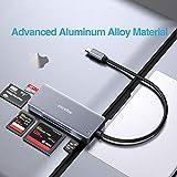 ZIYUETEK USB C SD Card Reader, Aluminum 5-Slot